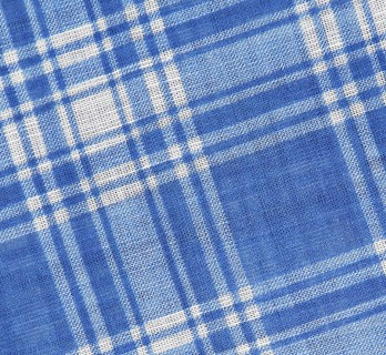 Blue and white tartan cotton scarf - The Nines