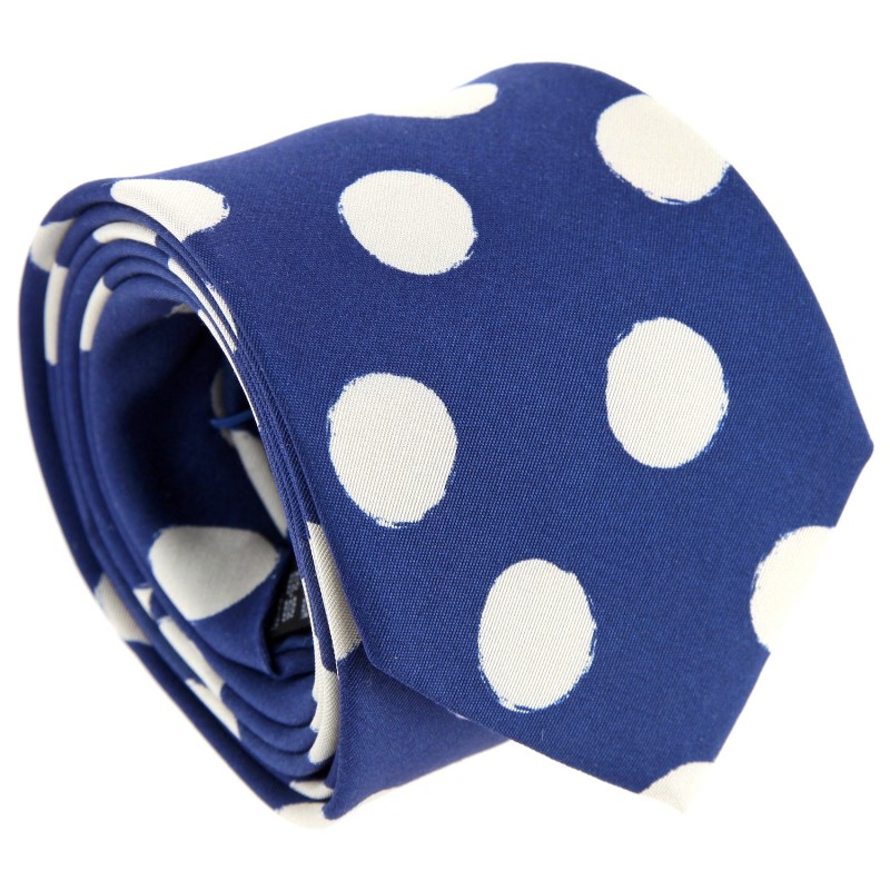 Blue Paul Smith Tie with Polka Dots