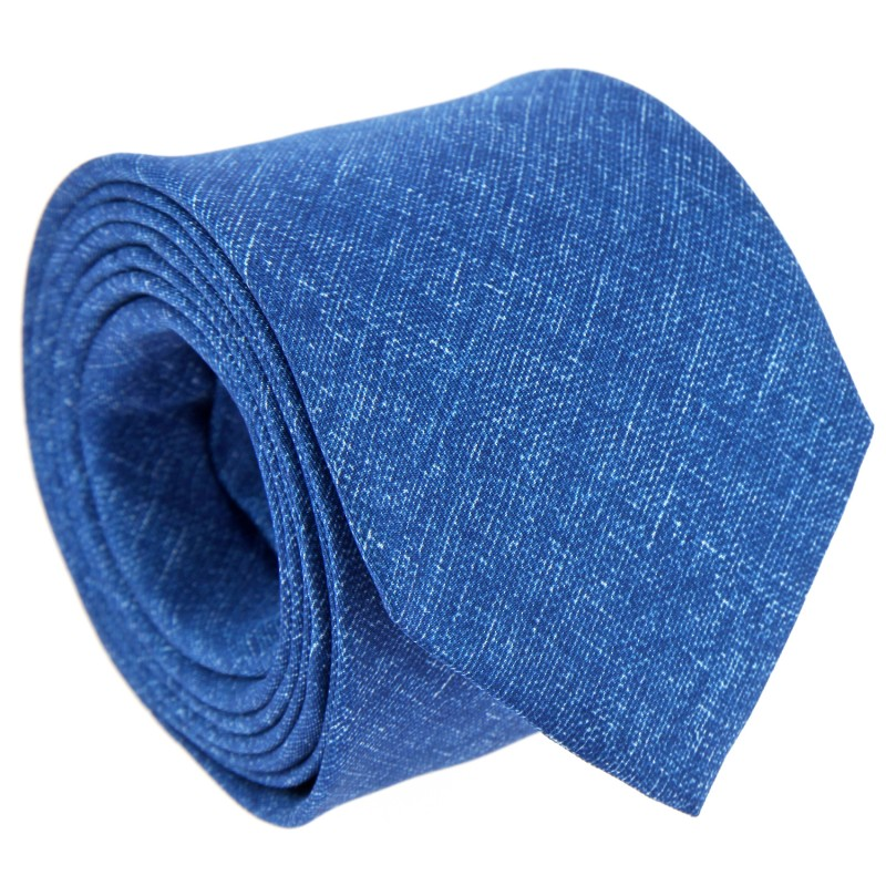 Blue Printed Silk The Nines Tie - Trapani