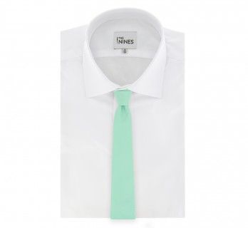 Aqua Green Basket Weave Silk The Nines Tie - Saint Honoré II