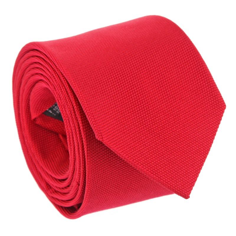 Grenadine Red Basket Weave Silk The Nines Tie - Saint Honoré II