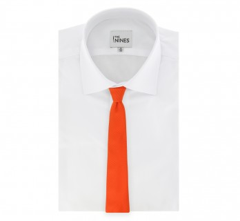 Orange Basket Weave Silk The Nines Tie - Saint Honoré II