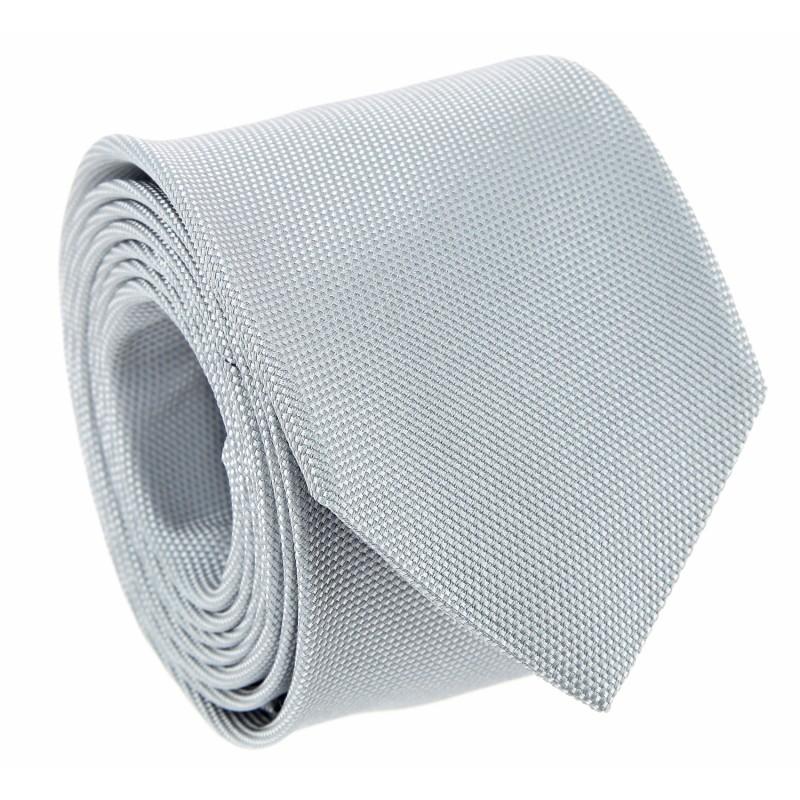 Pearl Grey Basket Weave Silk The Nines Tie - Saint Honoré II