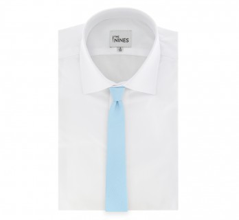 Lightblue Basket Weave Silk The Nines Tie - Saint Honoré II