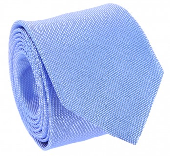 Cornflower Blue Basket Weave Silk The Nines Tie - Saint Honoré II