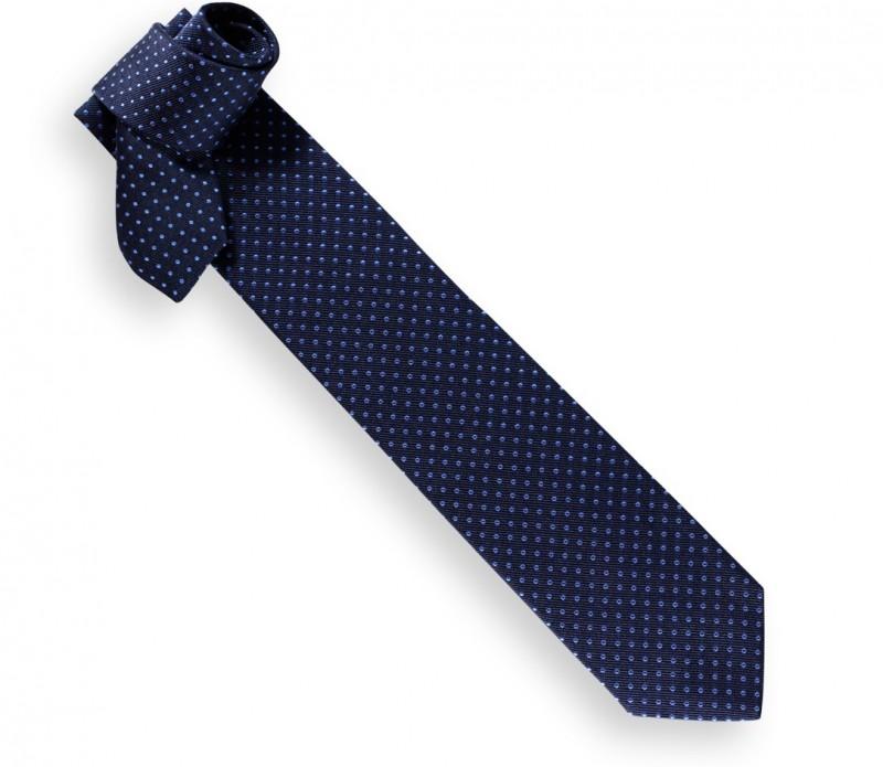 Navy Blue and Blue Polka Dots Héritage Tie - Atlanta II