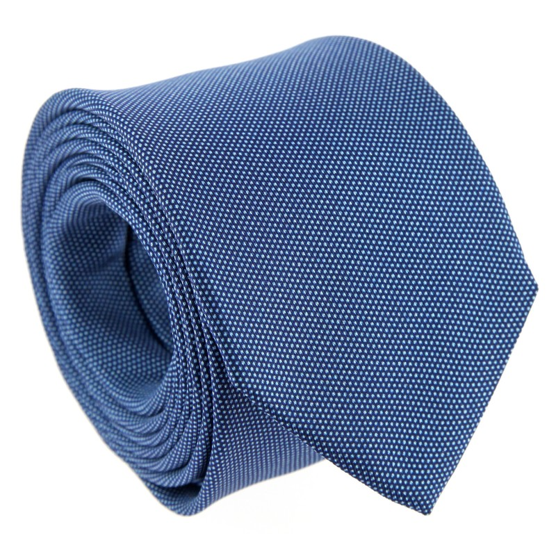 Semi-Plain Navy Blue The NinesTie with Light Blue Pinhead Pattern - Toledo