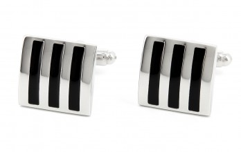 Black cufflinks - Brighton