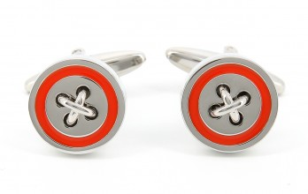 Orange cufflinks - Baltimore