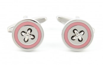 Pink cufflinks - Baltimore