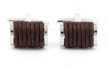 Brown cufflinks - Singapore