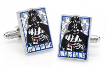 Star Wars cufflinks - Join Us or Die Propaganda Poster