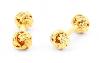Gold sailing knot cufflinks - Georges V