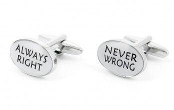 Quote cufflinks - Always Right