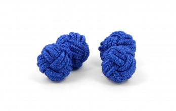 Electric blue silk knots - Bombay