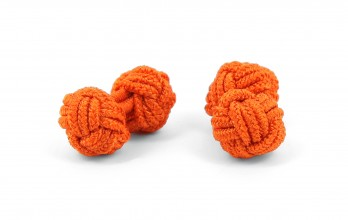 Orange silk knots - Bombay