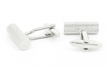 Cylindrical Silver cufflinks - Stockholm