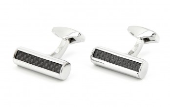 Cylindric Carbon cufflinks - Boston