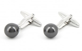 Anthracite cufflinks - Tahiti