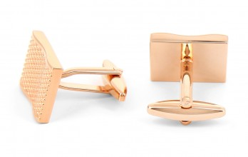 Rectangular rose gold cufflinks - Sainte-Rose