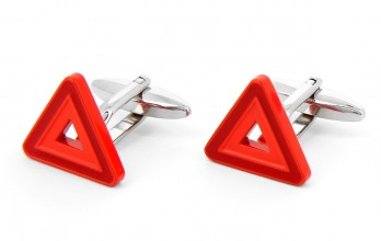 Warning triangle cufflinks - Warning triangle