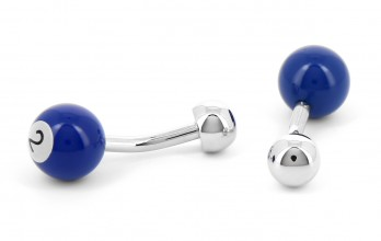 Blue billiard ball cufflinks - Blackpool 2