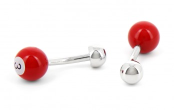 Red billiard ball cufflinks - Blackpool 3