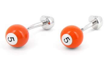 Orange billiard ball cufflinks - Blackpool 5