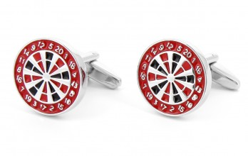 Darts cufflinks - Dartboard