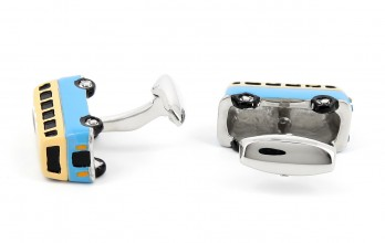 Blue cufflinks - Woodstock