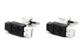 Black USB flash drive cufflinks - Bangalore