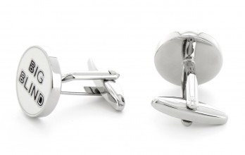 Poker cufflinks - Blind
