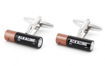 Battery cufflinks - Duracell