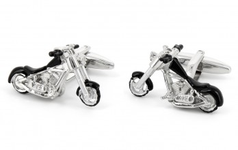 Motorbike cufflinks - Hells Angels