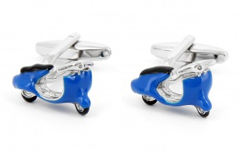 Scooter blue cufflinks - Roma