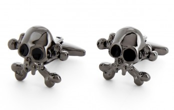 Skull gunmetal cufflinks - Saint-Domingue