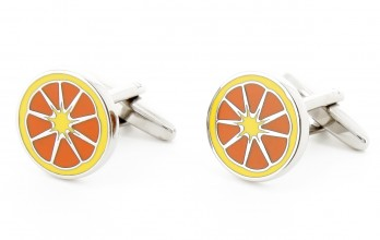 Citrus fruit cufflinks - Acapulco