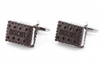 Biscuit cufflinks - Biscuit