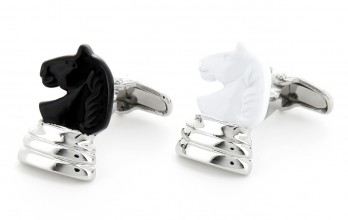 Chess cufflinks - Knight