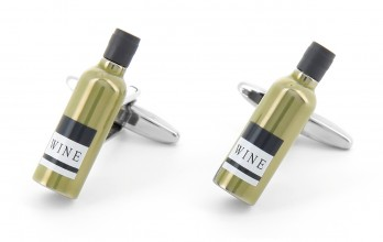 Winebottle cufflinks - Chardonnay
