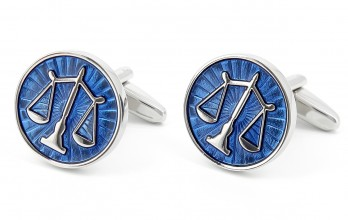 Libra sign cufflinks - Cité II