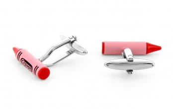 Red cufflinks - Crayon