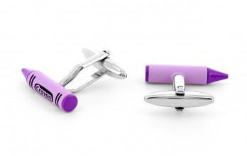 Purple cufflinks - Crayon
