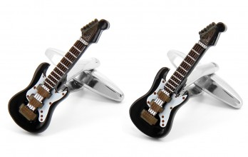 Guitar black cufflinks - Gibson City II