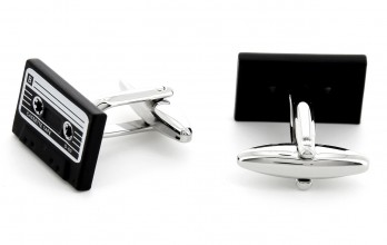 Cassette cufflinks - Philips II