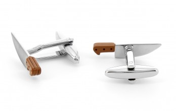 Butcher's knife cufflinks - Whitechapel
