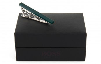Hugo Boss tie clip - Troberto Dark Green