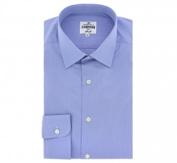 Blue Check Classic Collar Shirt Slim Fit