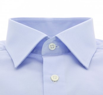 Slim Fit Blue Poplin Classic Collar Shirt