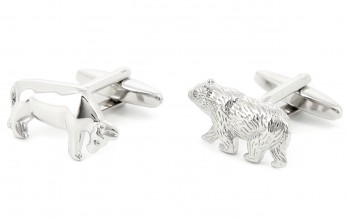 Bull and bear cufflinks - Broad Street